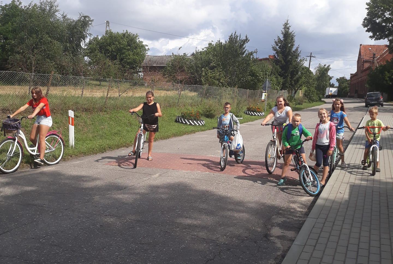 Wycieczka rowerowa dzieci z Kościelnej Jani