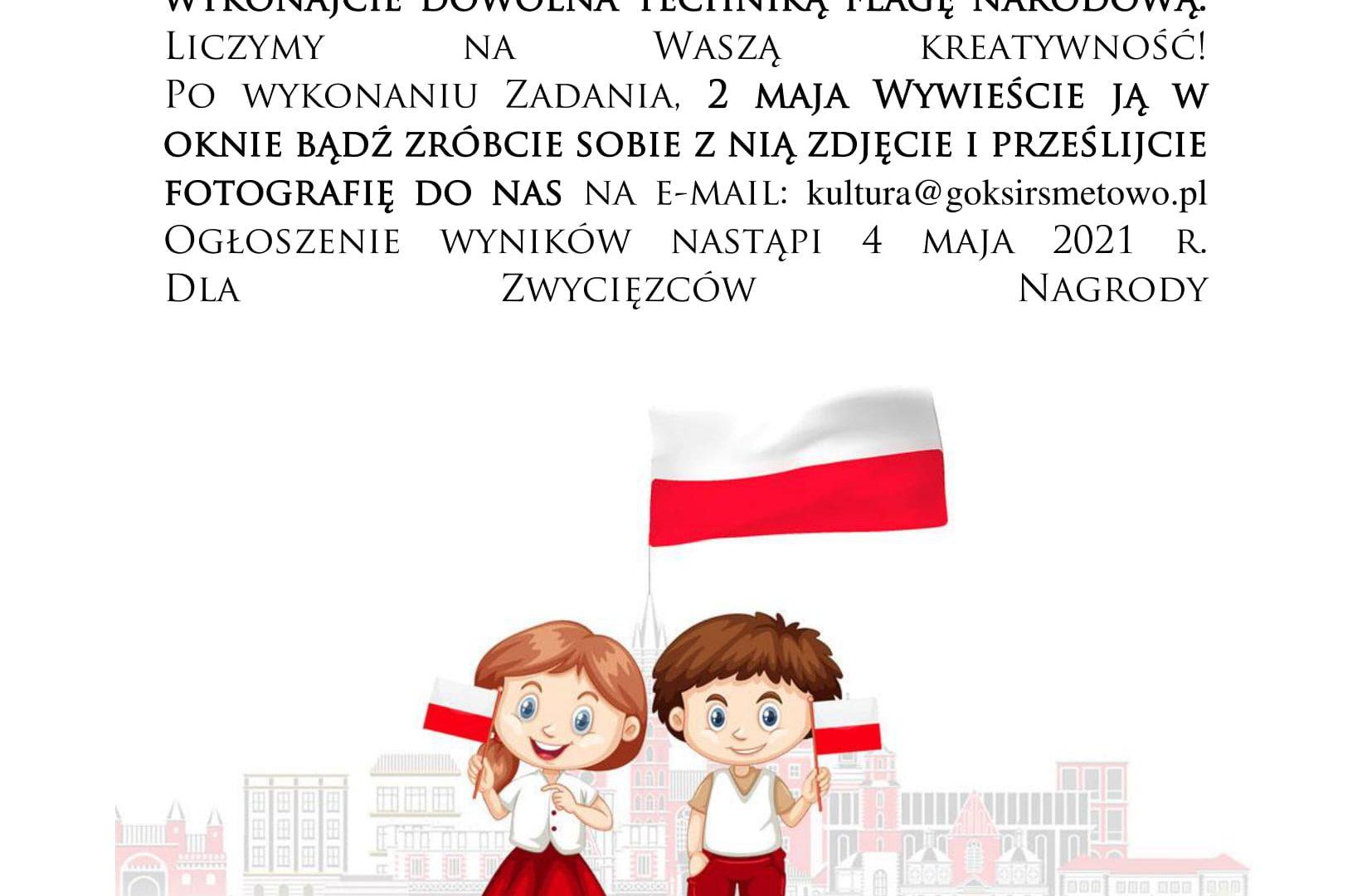 plakat - konkurs plastyczny na wykonanie flagi Polski
